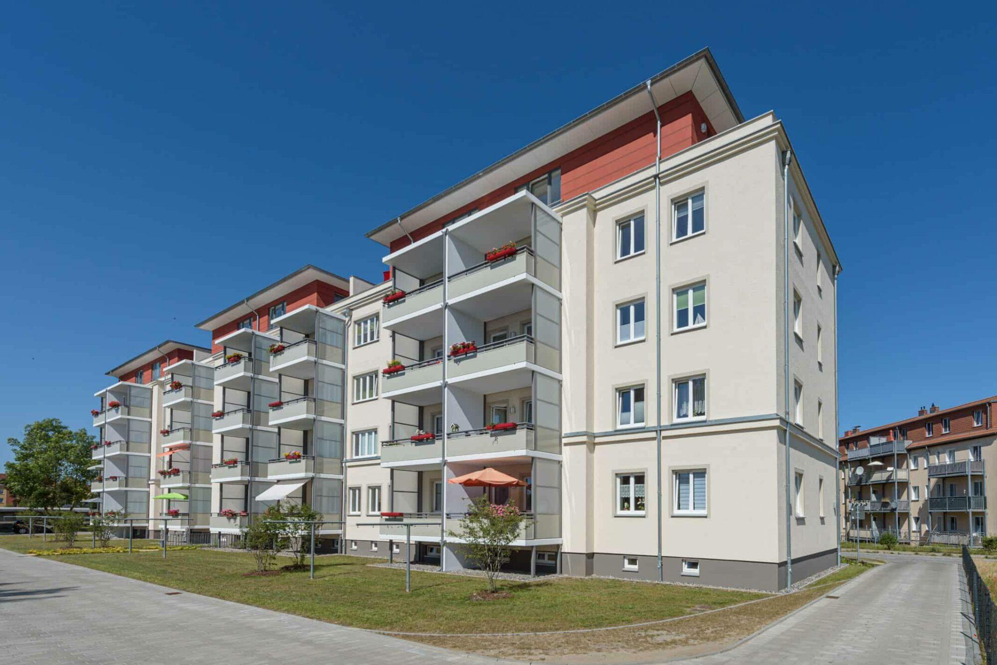 Wohnungsbau Kupfermühle Stralsund - Rückansicht