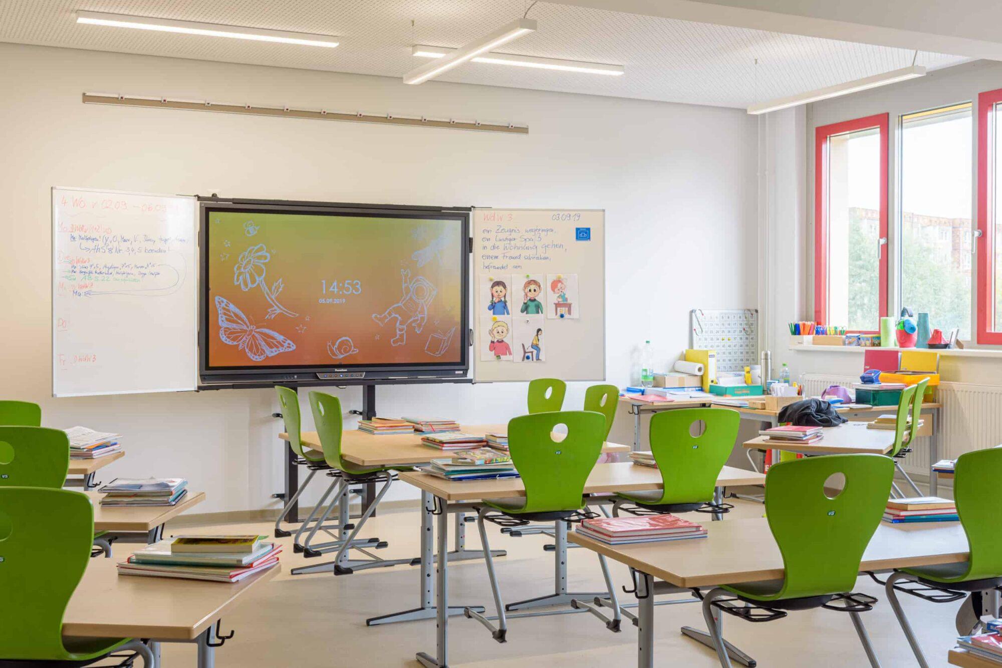 Ferdinand von Schill Grundschule Stralsund - Modernste Technik im Klassenzimmer