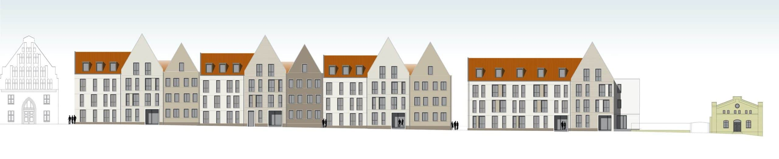 Quartier Stadtmauer Stralsund - Ansicht Mühlenstraße