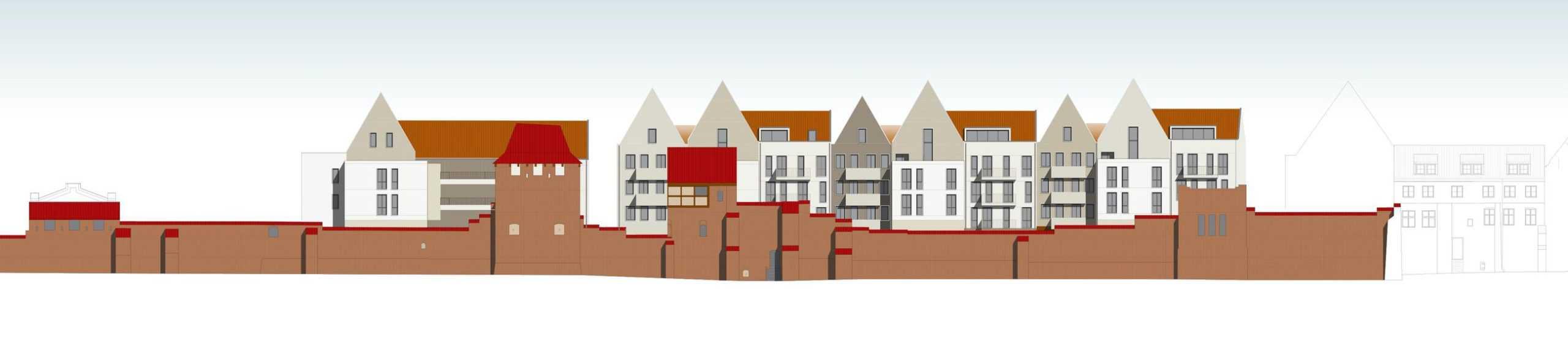 Wohnungsbaukonzept Quartier Stadtmauer Stralsund