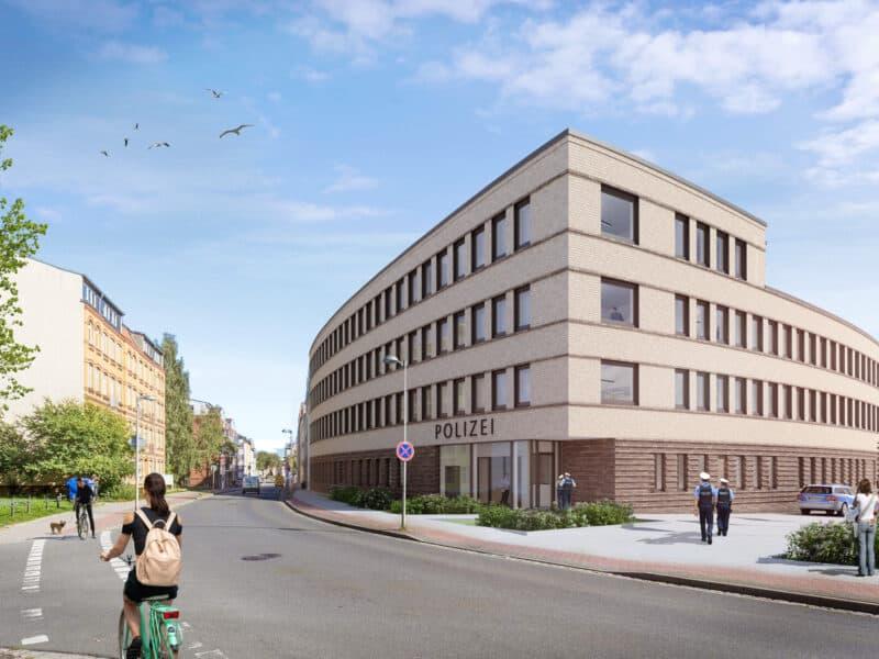 Neubau Polizeirevier und Kommissariat in Stralsund