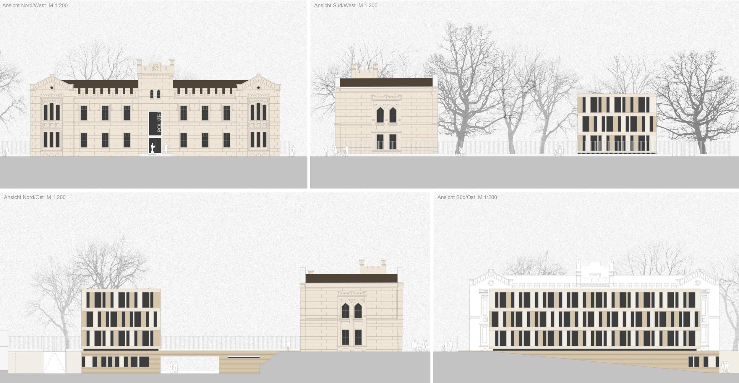 Neues Polizeizentrum Wismar - Ansichten