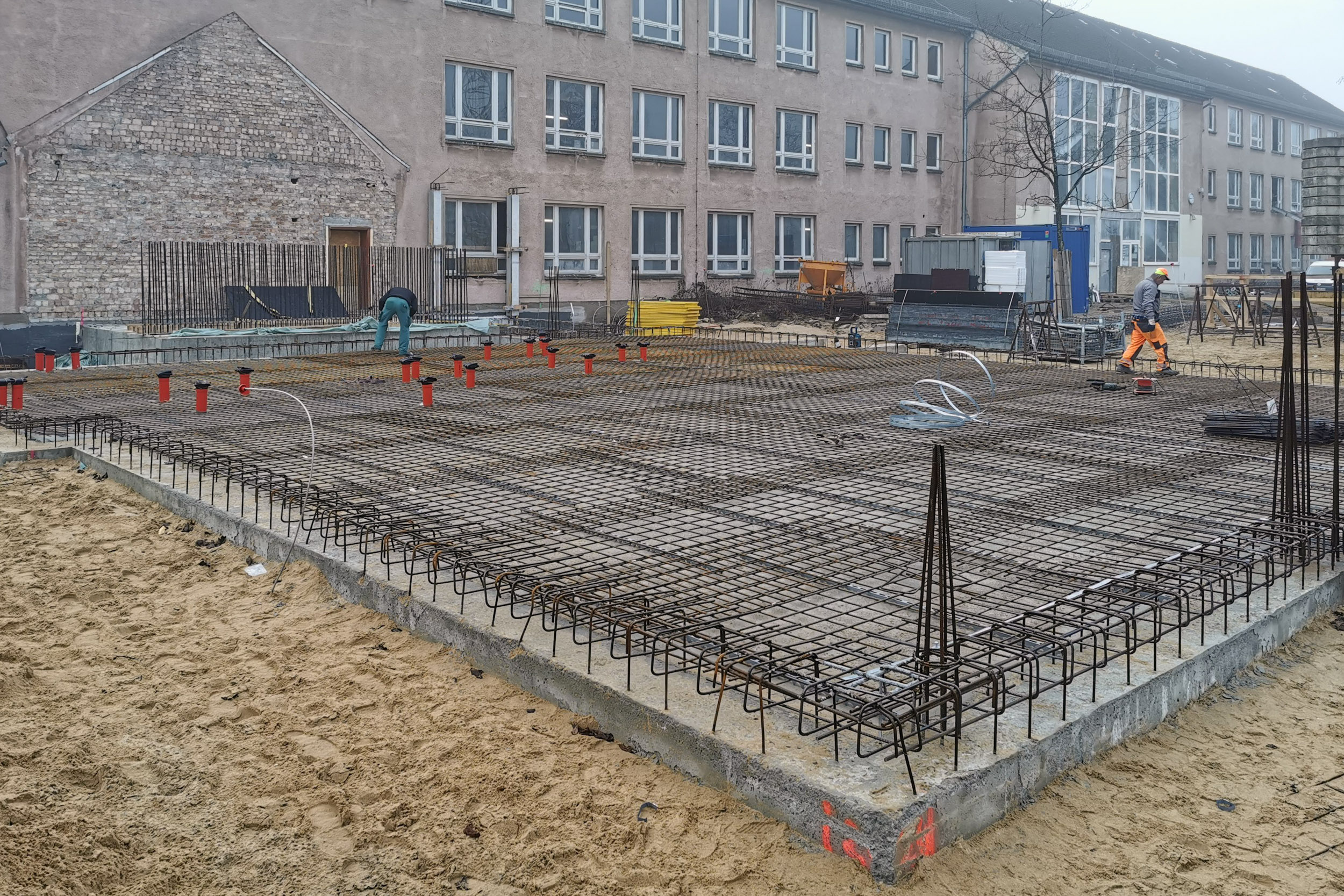 Baustart Juri Gagarin-Schule Stralsund - Neubau Mensa- und Mehrzweckbereiches
