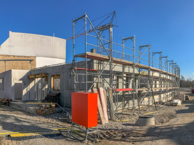Rohbauarbeiten am Polizei-Neubau in Stralsund