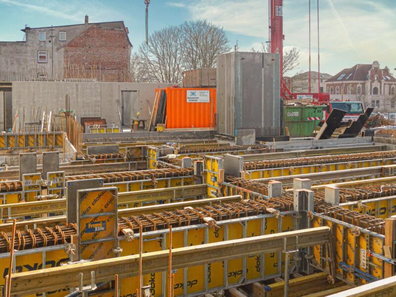 Fertigstellung Keller und Tiefgarage Turmstraße Wismar