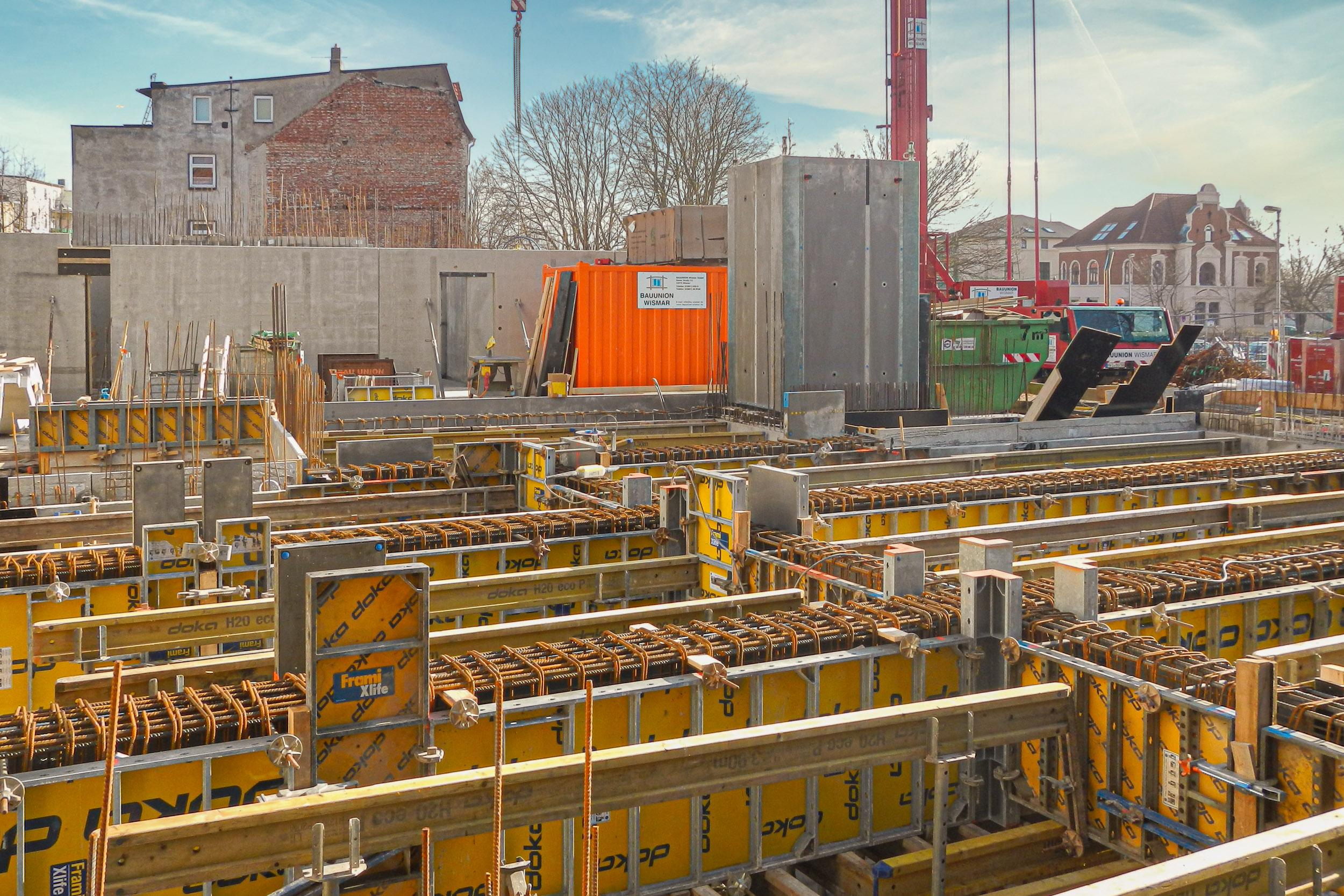 Turmstraße Wismar - Fertigstellung Keller und Tiefgarage