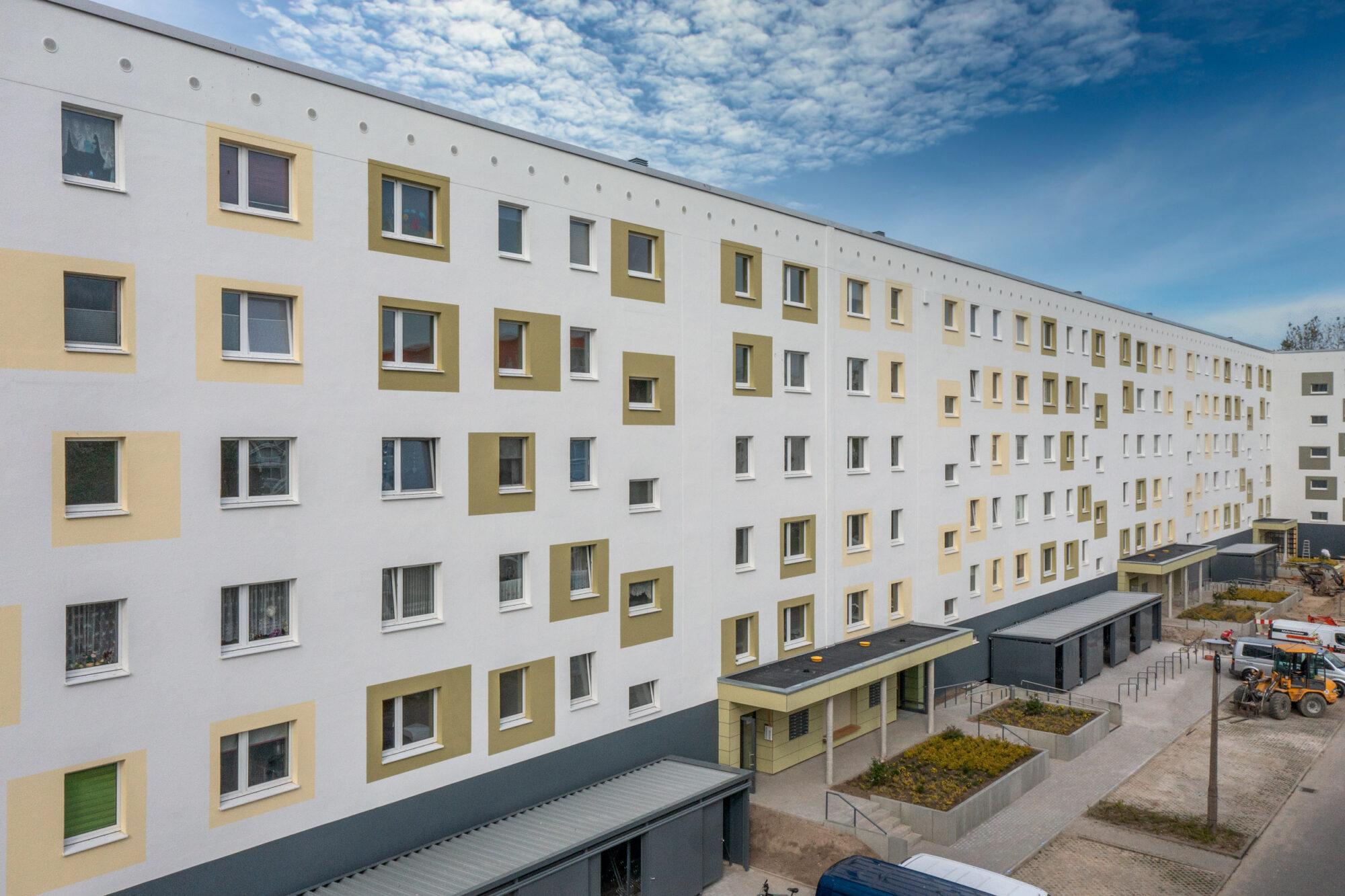 Farbefrohe Fassadengestaltung